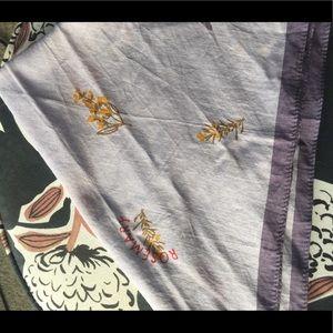 Madewell lavender bandana scarf